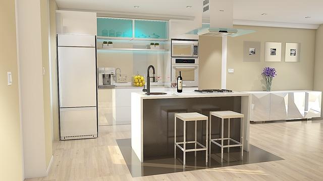moderní velká kuchyně