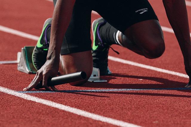 běžec, štafětpvý kolík