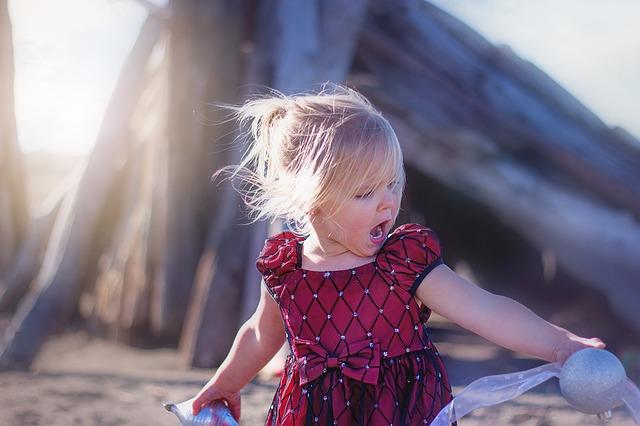 zpívající holčička
