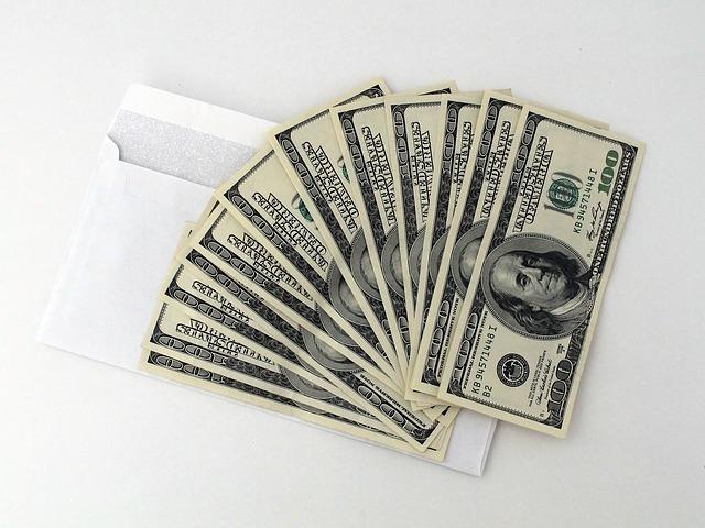 obálka na peníze